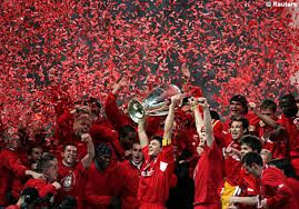 Liverpool win the European cup for the fifth time in 2005