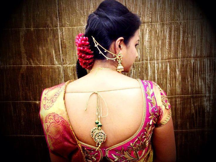 bridal saree blouse design with tassels