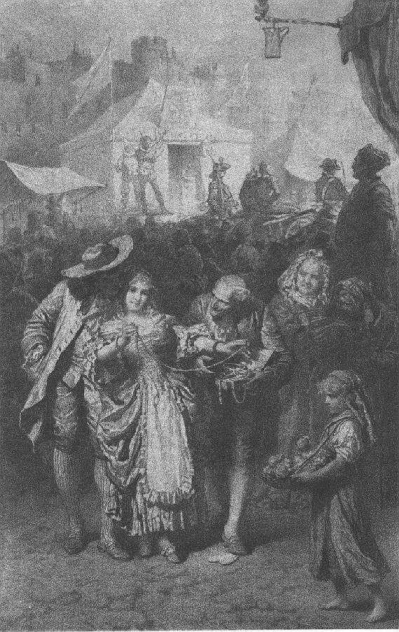 Illusztráció Madách Imre Az ember tragédiája című művéhez: Londonban (11. szín)  1887