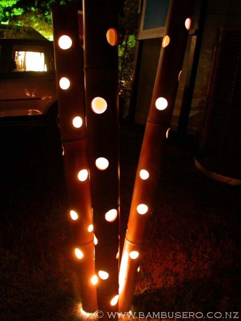 Funky Outdoor Lighting Incorporated Into Bamboo C