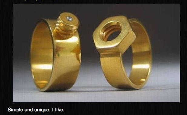 Engagement rings.