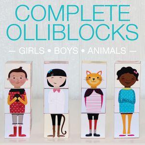Olliblocks - Complete Set PDF. Download, print, mod podge to blocks or use sticker paper! $12