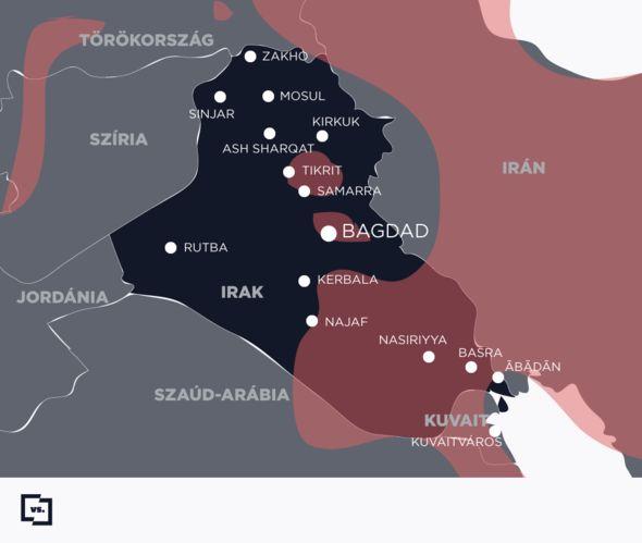 Irak vallási térképe - az újabb háború előtt