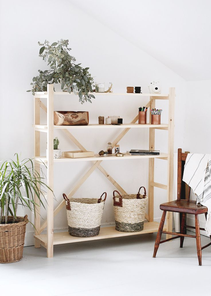I've seen these scaffolding style bookshelves popping up everywhere lately and have been loving them. I'm not sure that they're usually called that, but they remind me of scaffolding, so that's what I'm calling them! I love the simple design with the X in the back and love that they are adjustable. I'm definitely a …