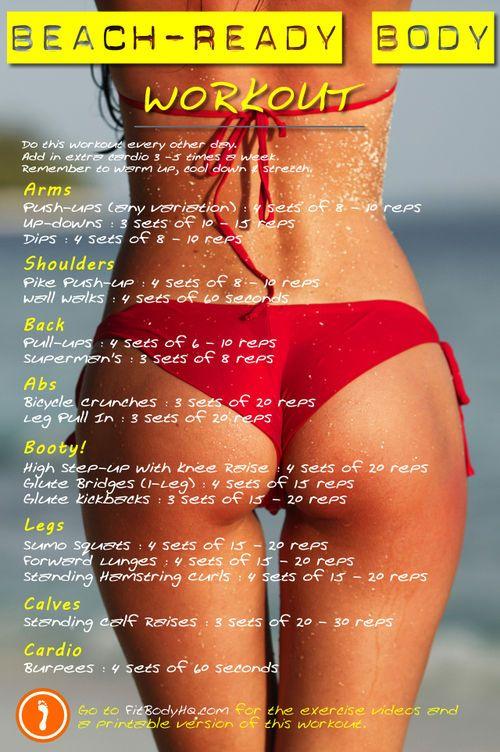 beach ready body workout