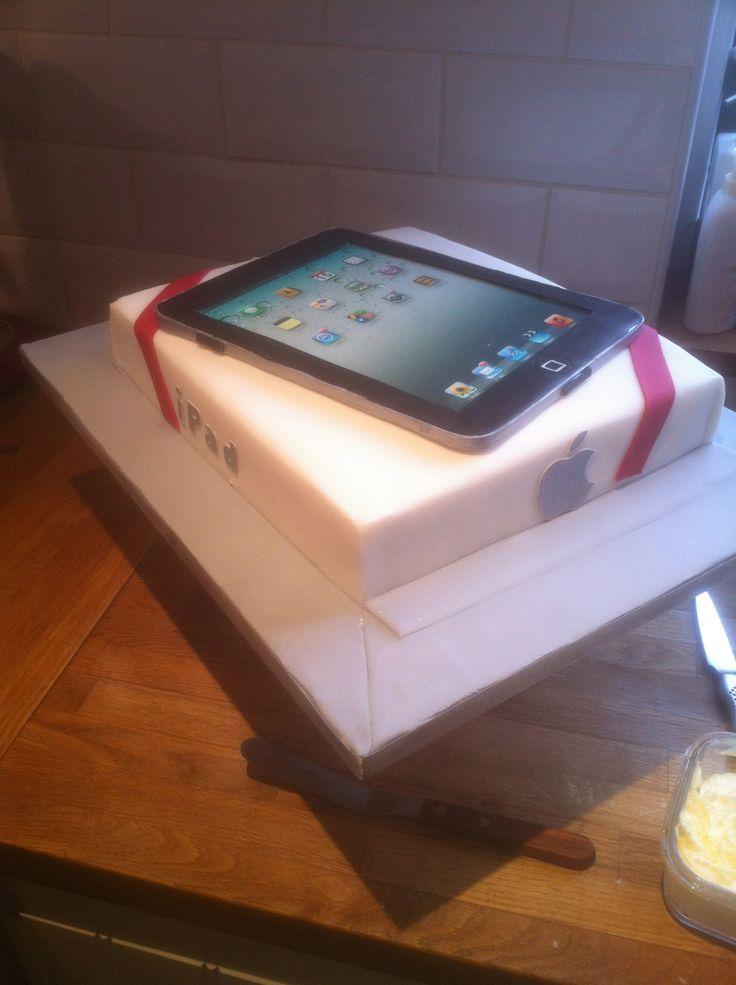Ipad cake - iPad Cake Raspberry Sponge with a sugar iPad .