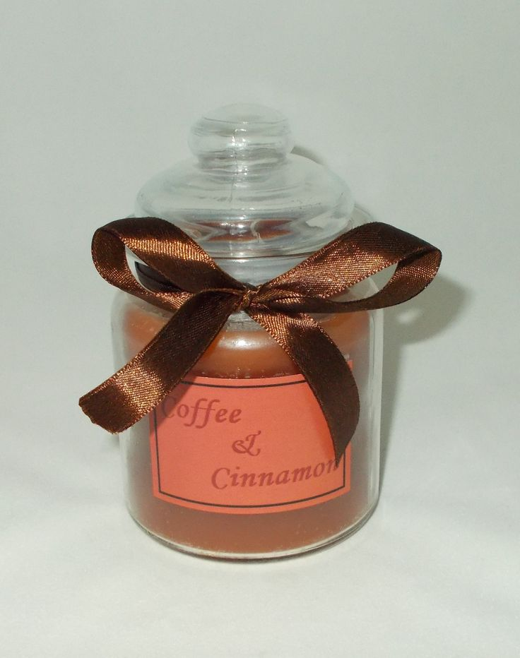 Candle jar Coffee and Cinnamon aroma. 8х12 cm.