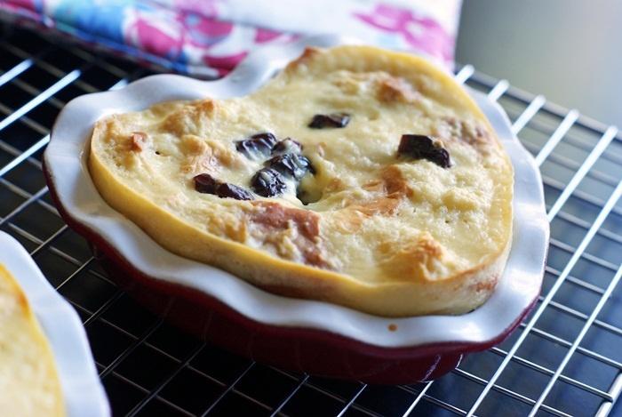 Mini Cherry Bread Puddings