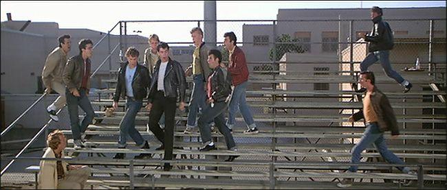 Grease - Summer loving' Bleachers are still in same spot behind Venice High School
