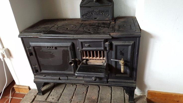 Belle Portable Cast Iron Antique Stove Fireplace Oven | eBay