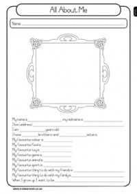 All About Me - Grade 1 Worksheet