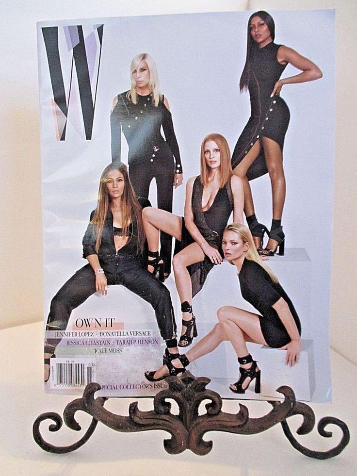 """W Magazine March 2017 """"Own It"""" Issue JLO Donatella Versace Taraji P. Henson"""