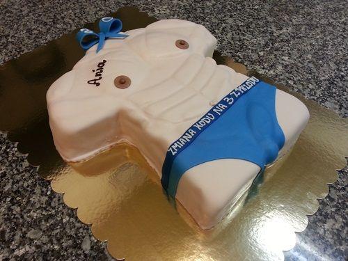 Tort urodzinowy dla kobiety która lubi umięśnione sylwetki wysportowanych facetów