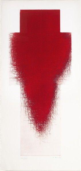 "Arnulf Rainer's ""Red Cross"" drypoint, c. 1990"
