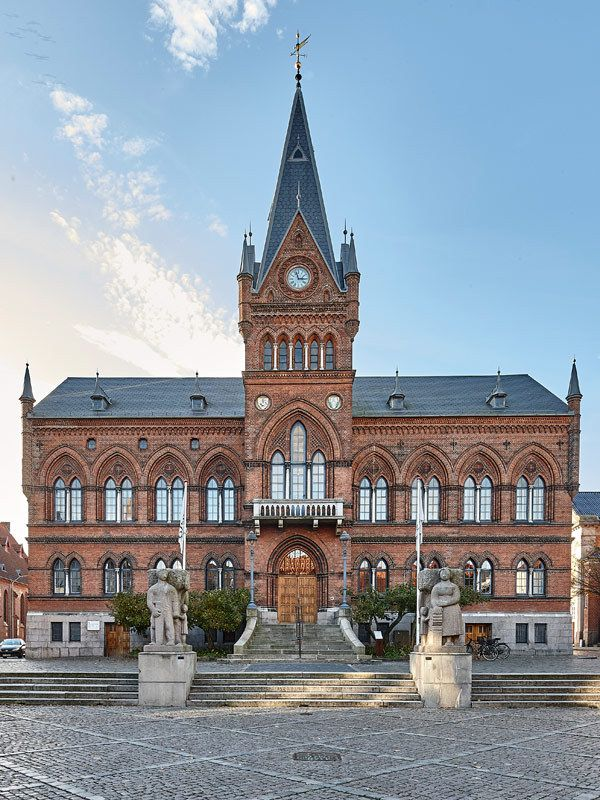 Vejle town hall. Carl Lendorf (1879), renovated by Martin Nyrop (1920).