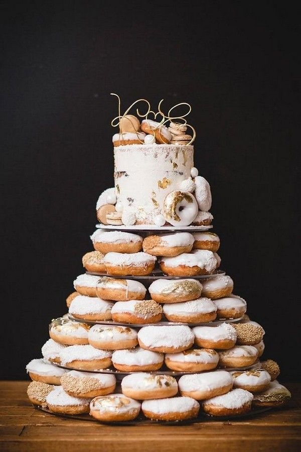 Trending 18 Delicious Wedding Cake Ideas With Doughnuts Emmalovesweddings Wedding Donuts Donut Wedding Cake Doughnut Wedding Cake