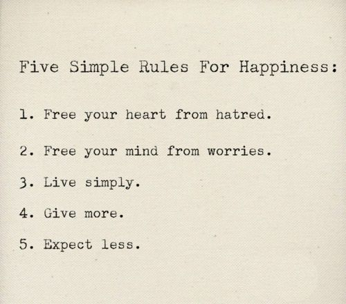 Happiness. Things I need to learnThoughts, Life, Happy, Simple Rules, Wisdom, Happiness, Things, Living, Inspiration Quotes