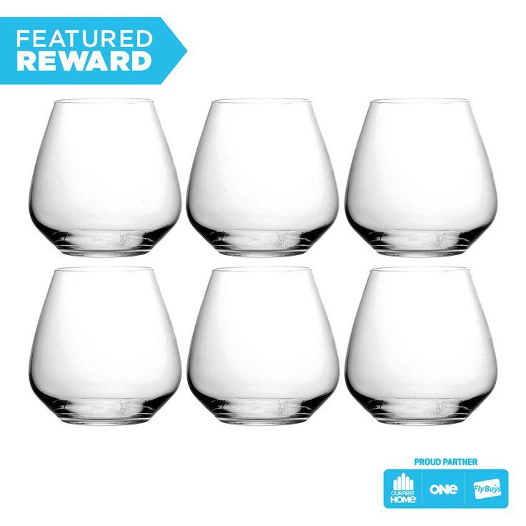 Luigi Bormioli Atelier stemless wine glasses - set of 6 #flybuysnz #255points #OFHNZ