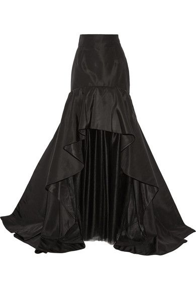 Black silk-faille and tulle Concealed hook and zip fastening at back Fabric1: 100% silk; fabric2: 100% nylon; lining: 100% silk Dry clean