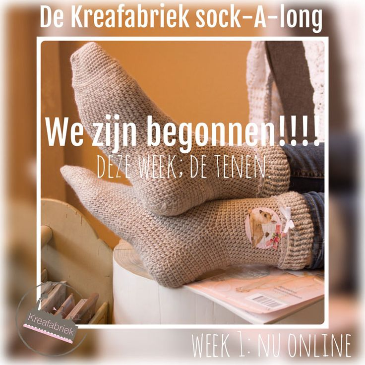 In de komende 5 weken delen we steeds een stukje van het sokkenpatroon en voor je het weet heb je je eigen paar sokken gehaakt.