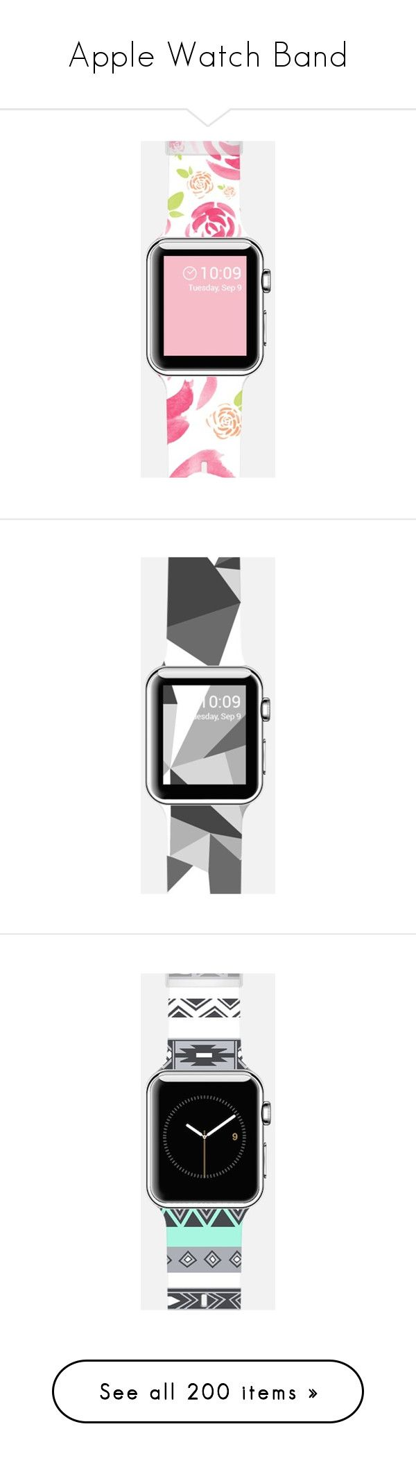 """""""Apple Watch Band"""" by casetify ❤ liked on Polyvore featuring jewelry, watches, rose watches, apple wrist watch, apple watches, rose jewelry, black and white jewelry, black and white watches, abstract jewelry and bohemian turquoise jewelry"""