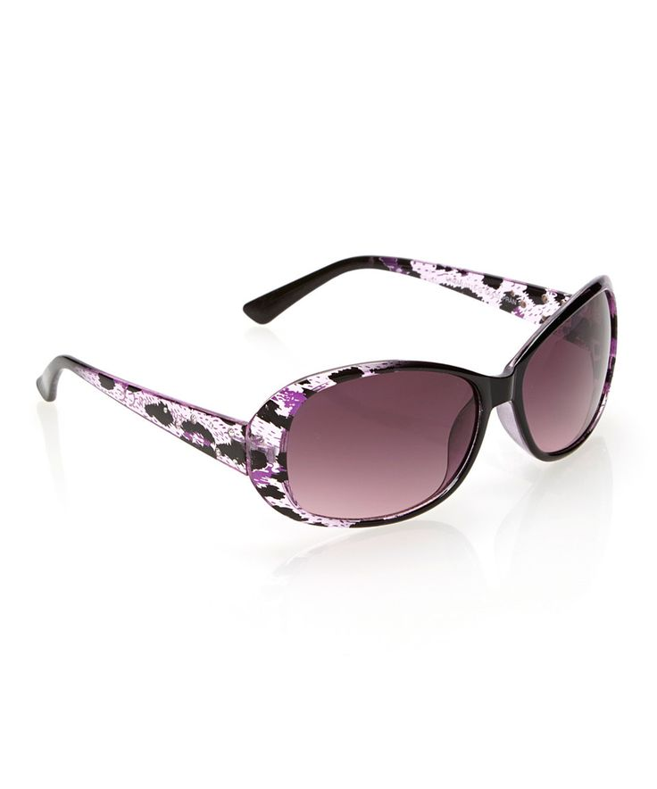 6ba69463b799a Love this Purple   Black Abstract Sunglasses by Steve Madden on  zulily!   zulilyfinds