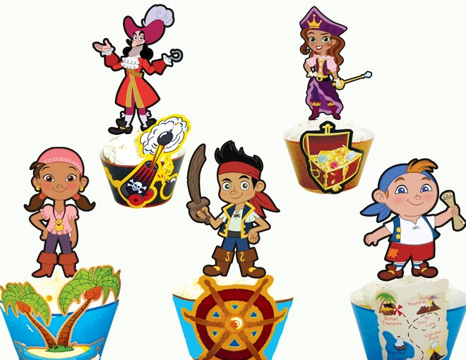 Jake And The Neverland Pirates Printable Cupcake Toppers Wrappers