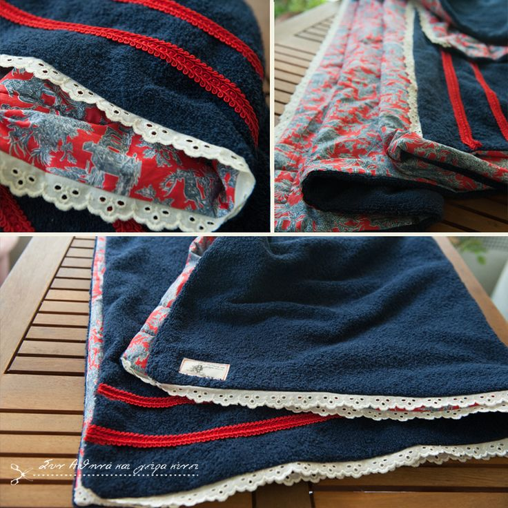 Handmade Sea Towel.... Belle Epoque Ultramarine