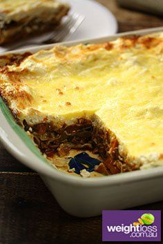 Beef & Vegetable Lasagne Recipe. #LasagneRecipes #DietRecipes #HealthyRecipes #WeightLossRecipes weightloss.com.au