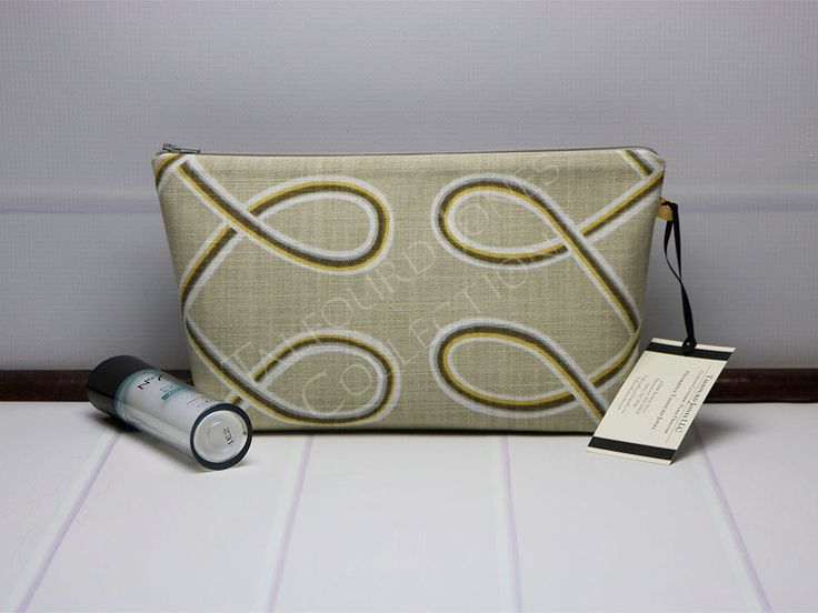 Medium Cosmetic Bag - Travel Makeup Bag - Toiletry Bag - Zipper Pouch - Cosmetic Storage - Robert Allen Multi Loop - Gift Ideas for Her by TalfourdJones on Etsy