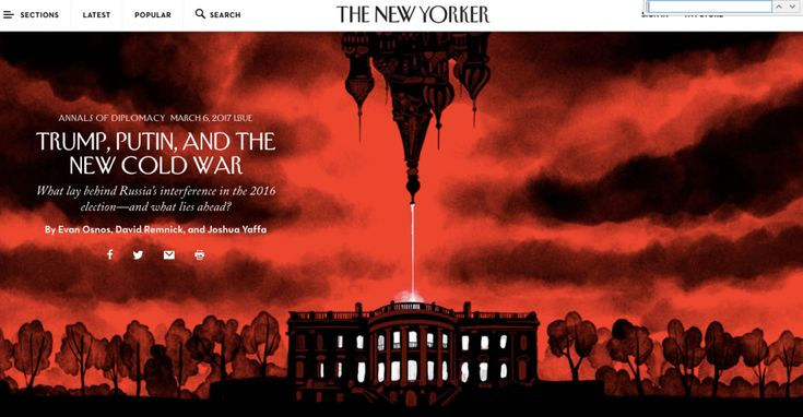 The New Yorker's Big Cover Story Reveals Five Uncomfortable Truths About U.S. and Russia