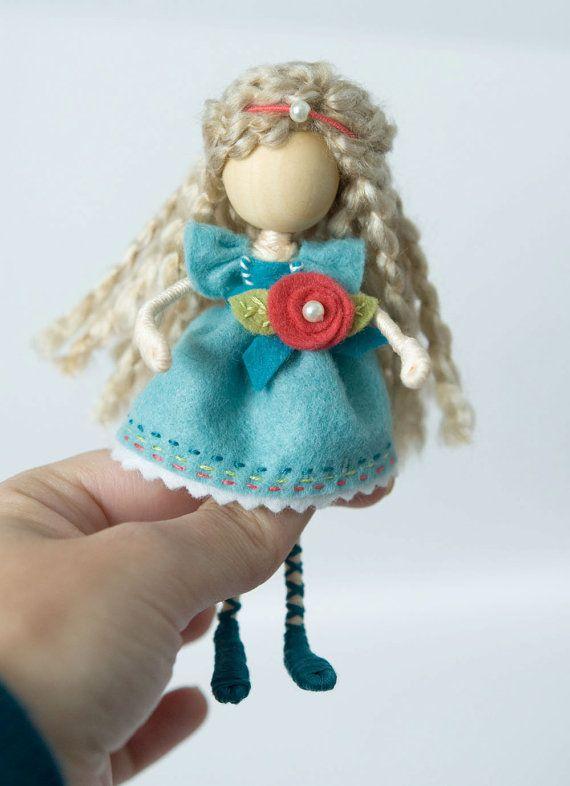 Waldorf Inspired Bendy Doll Waldorf Miniature by TanglewoodLane