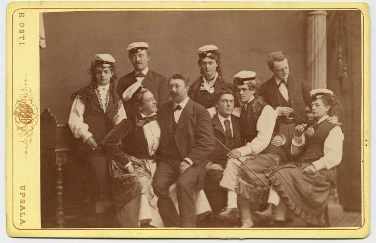 Spexet Studentskor, Smålands nation, 1873, photo: Heinrich Osti (1826-1914), [UPPSALA UNIVERSITY LIBRARY, BILD:6564]