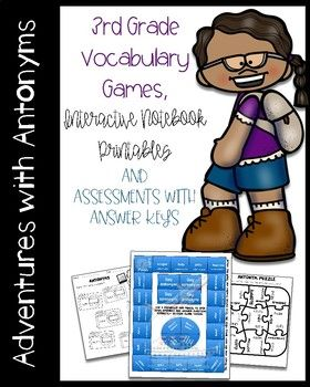 This antonym unit focuses on these 10 antonyms ( bright, dim, tidy, sloppy, attic, cellar, borrow, lend, gracious, rude) from the book 240 Vocabulary Words 3rd Grade Kids Need to Know (lesson 5). The purpose of these antonym activities and games is to supplement this amazing resource but you do not need this workbook for