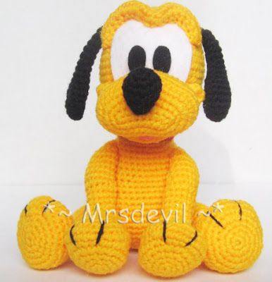 Knitting Patterns For Disney Toys : 40 best images about Pluto on Pinterest