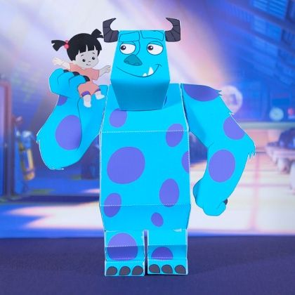 Sulley and Boo 3D Papercraft