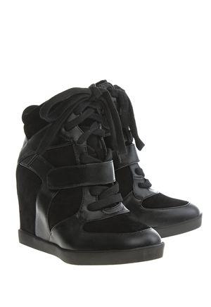 Have2have Sneakers med kilehæl, Olga Svart Bubbleroom.no