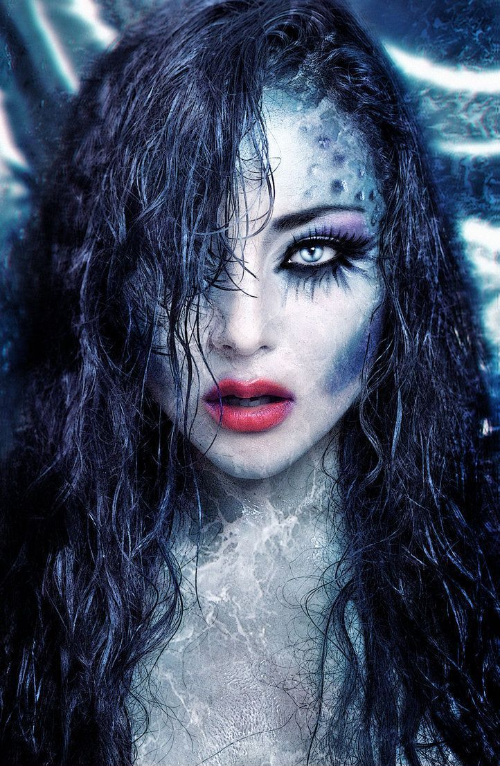 Halloween mermaid fantasy makeup