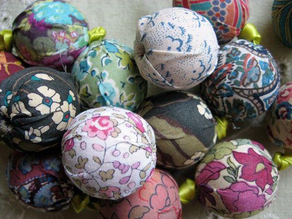 Liberty of London Fabric Beads