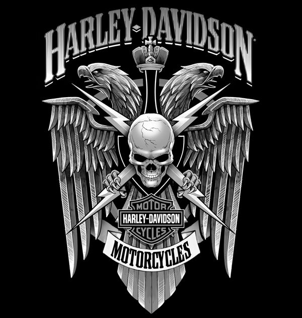 HARLEY-DAVIDSON Illustrations by SOUP//GROUP Inc., via Behance