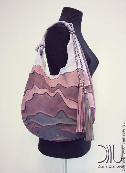 Купить УЛЕЙ . - брусничный, Красивая сумка, авторская сумка, необычная сумка, подарок женщине, в полоску