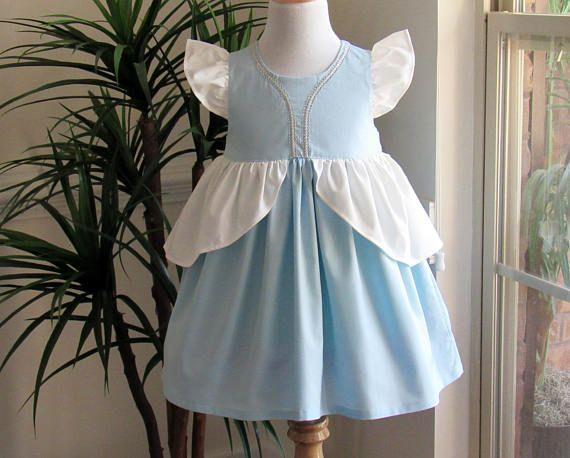 Cinderella Inspired Dress. Everyday Princess Dress for Girl