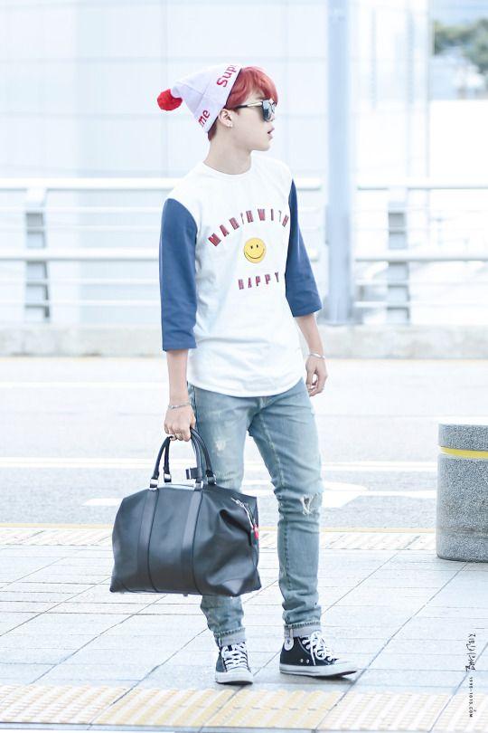 [AIRPORT] 150708: BTS Park Jimin at Incheon Airport #bts #bangtan #bangtanboys #fashion #style #kfashion #kstyle #korean #kpop