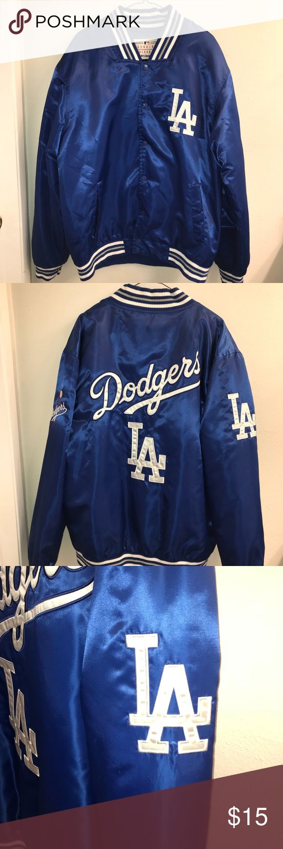 NWOT Dodgers Jacket Give me to my husband but can not wear it Price is firm NWOT  Smoke and pet free home Jackets & Coats Bomber & Varsity