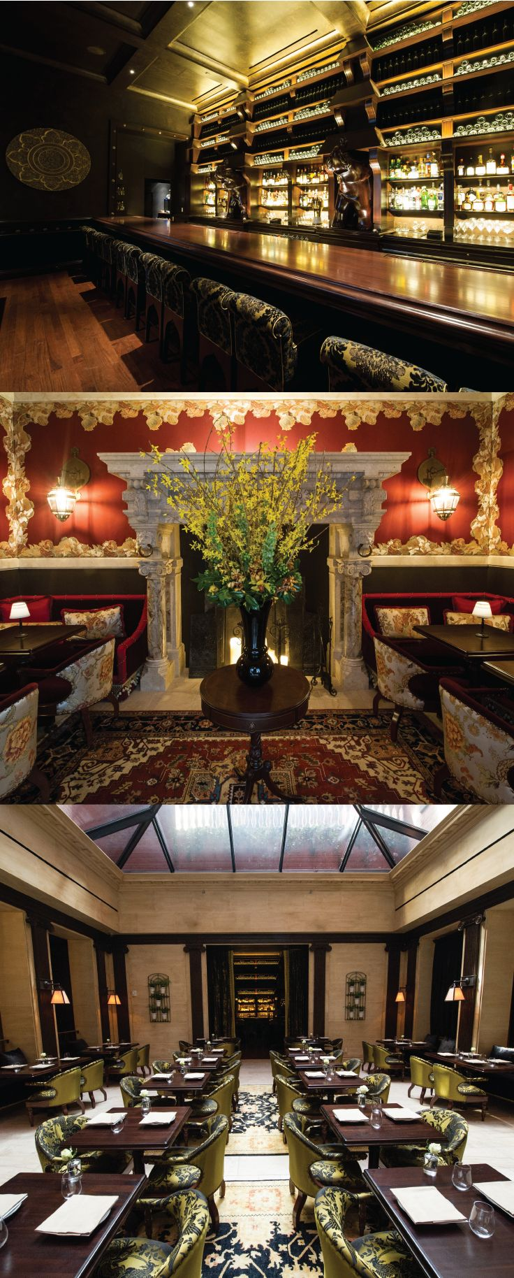Beautiful bar and dining area at the Nomad Restaurant in NYC. Get a look into this restaurant and an exclusive recipe made in Staub cookware. #Nomadhotel #NYCeats #placestovisit