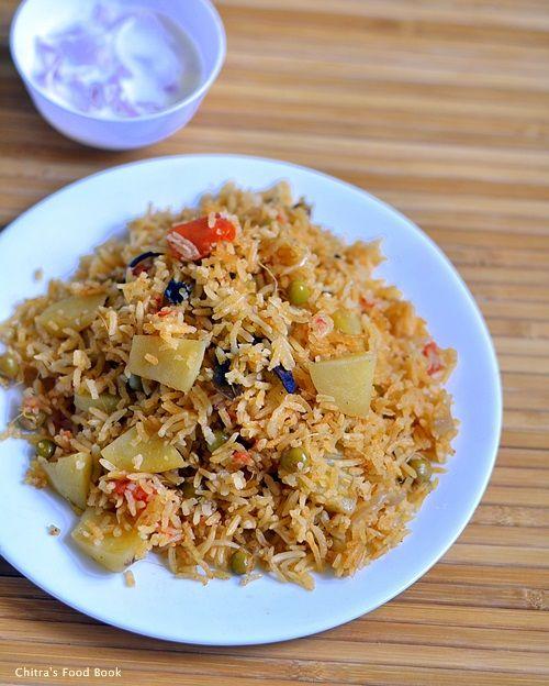 Anjappar style Chettinad biryani recipe using vegetables for Sunday lunch