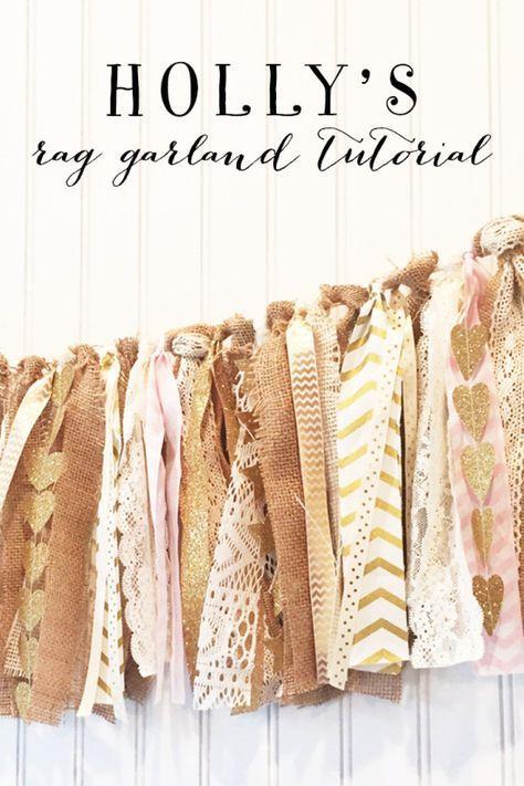 Holly's Rag Garland Tutiorial | Model Behaviors
