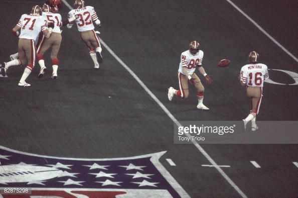49ers vs dolphins super bowl | Super Bowl XVI San Francisco 49ers Freddie Solomon in action pitch to ...