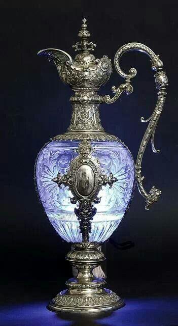 blue mistique genie vase.                                                                                                                                                                                 Plus