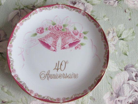 Decorative plate 40 th anniversary
